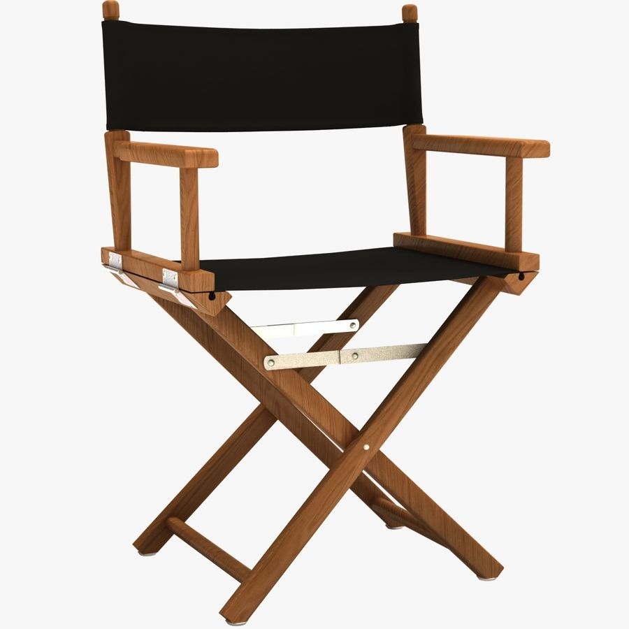 Director Chair Black royalty-free 3d model - Preview no. 1