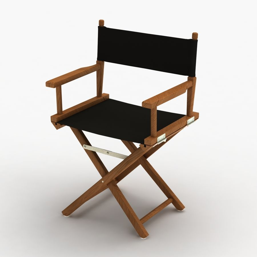 Director Chair Black royalty-free 3d model - Preview no. 7