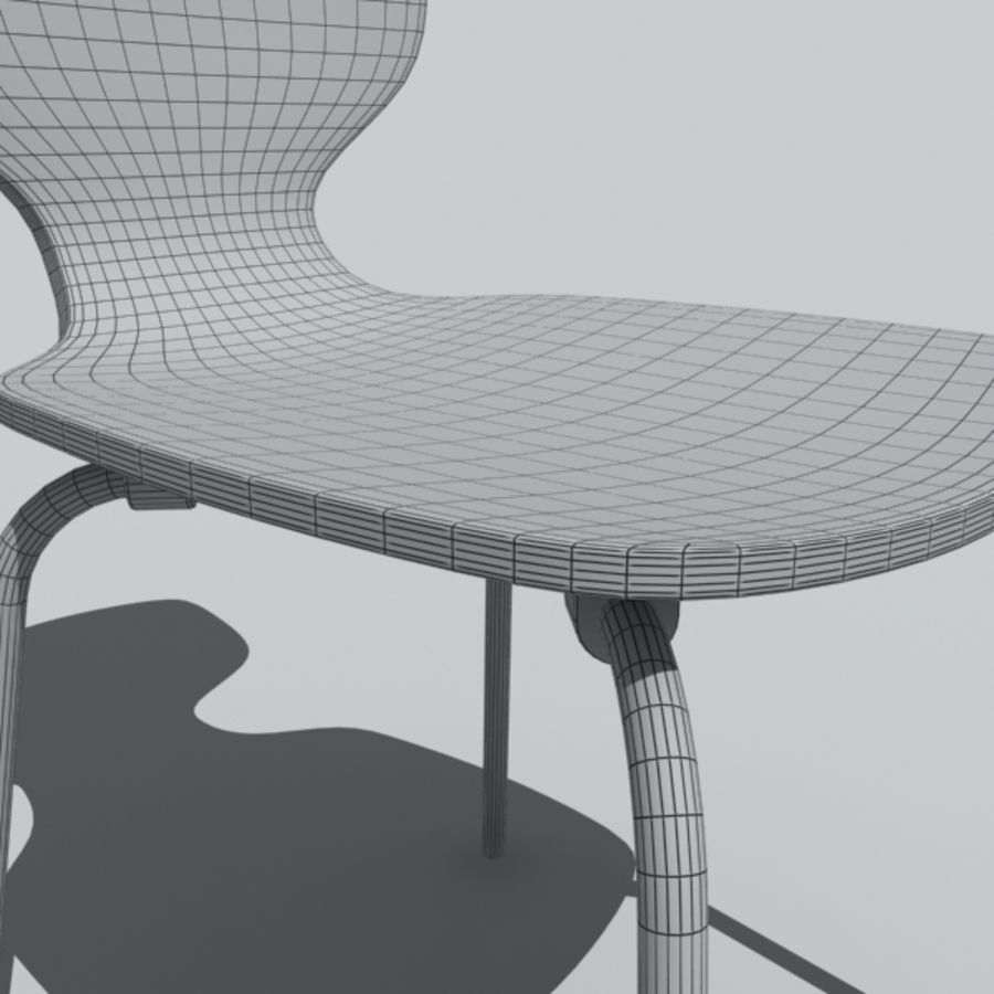 desk chair 1 royalty-free 3d model - Preview no. 3