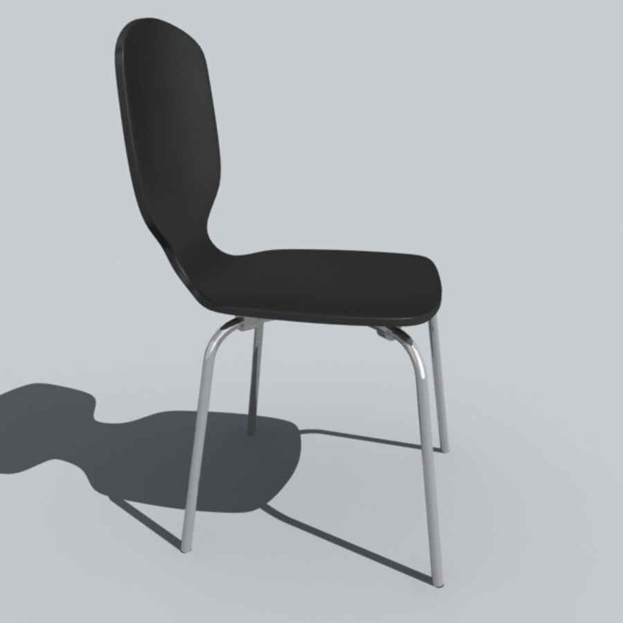 desk chair 1 royalty-free 3d model - Preview no. 2