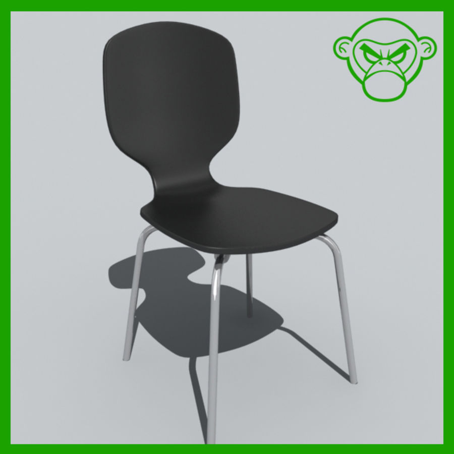 desk chair 1 royalty-free 3d model - Preview no. 1