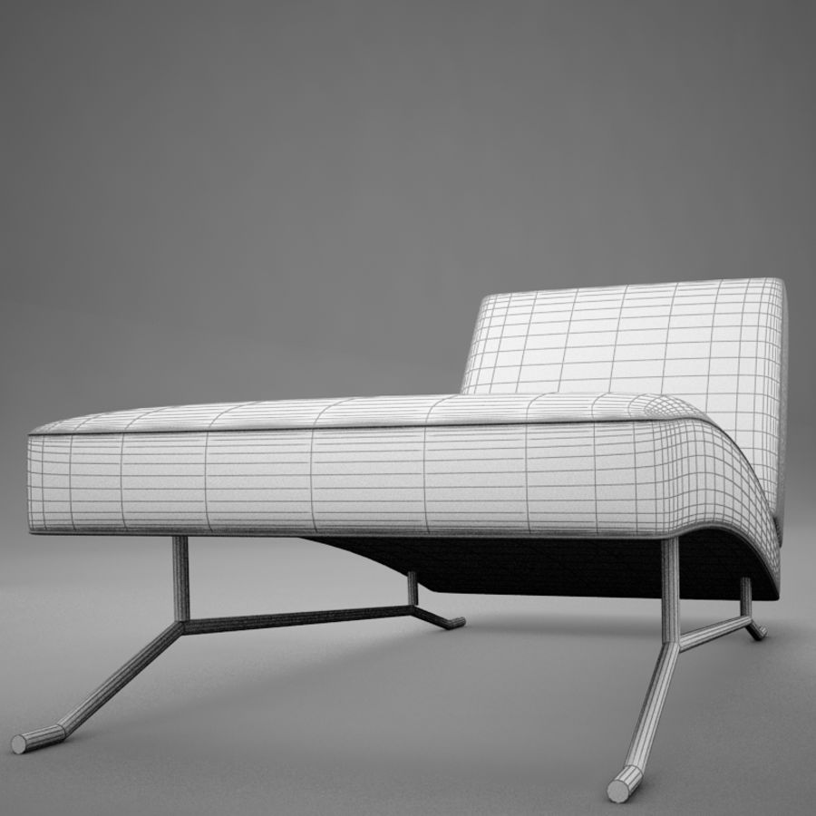 lounge chair02 royalty-free 3d model - Preview no. 17