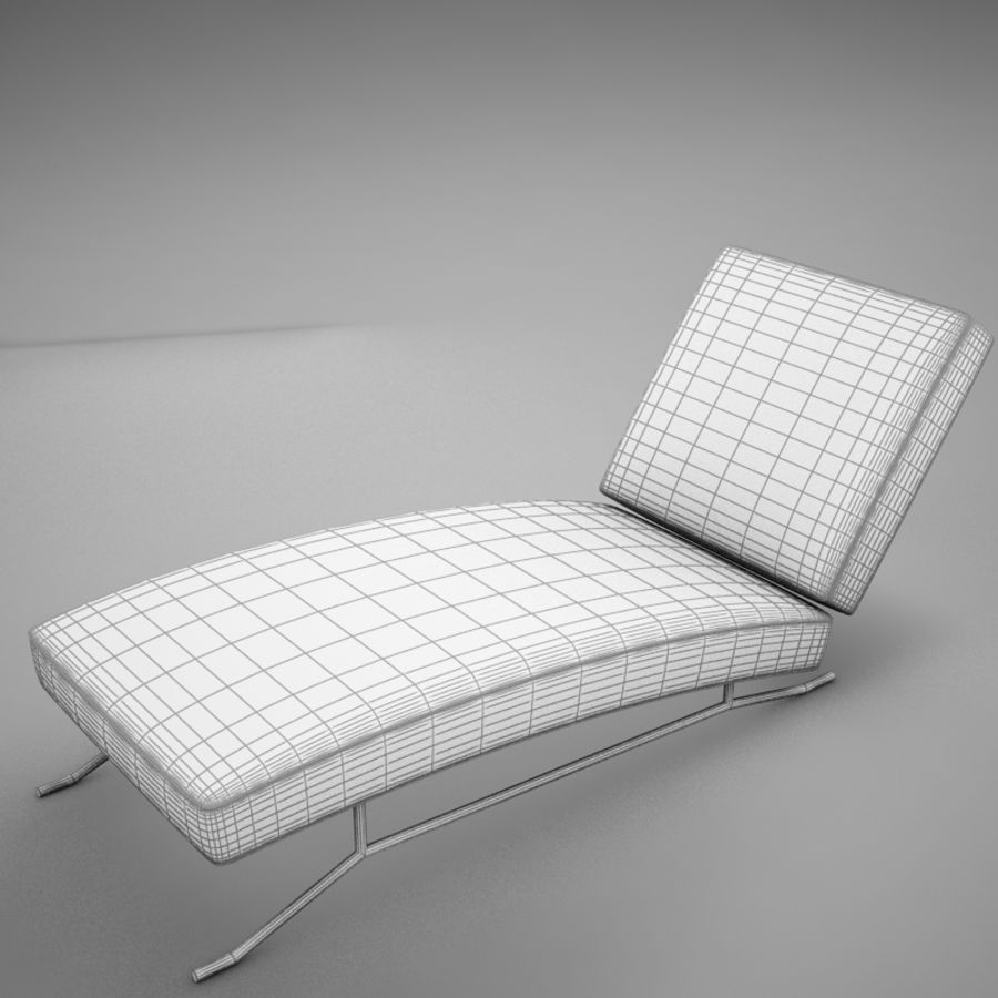 lounge chair02 royalty-free 3d model - Preview no. 12