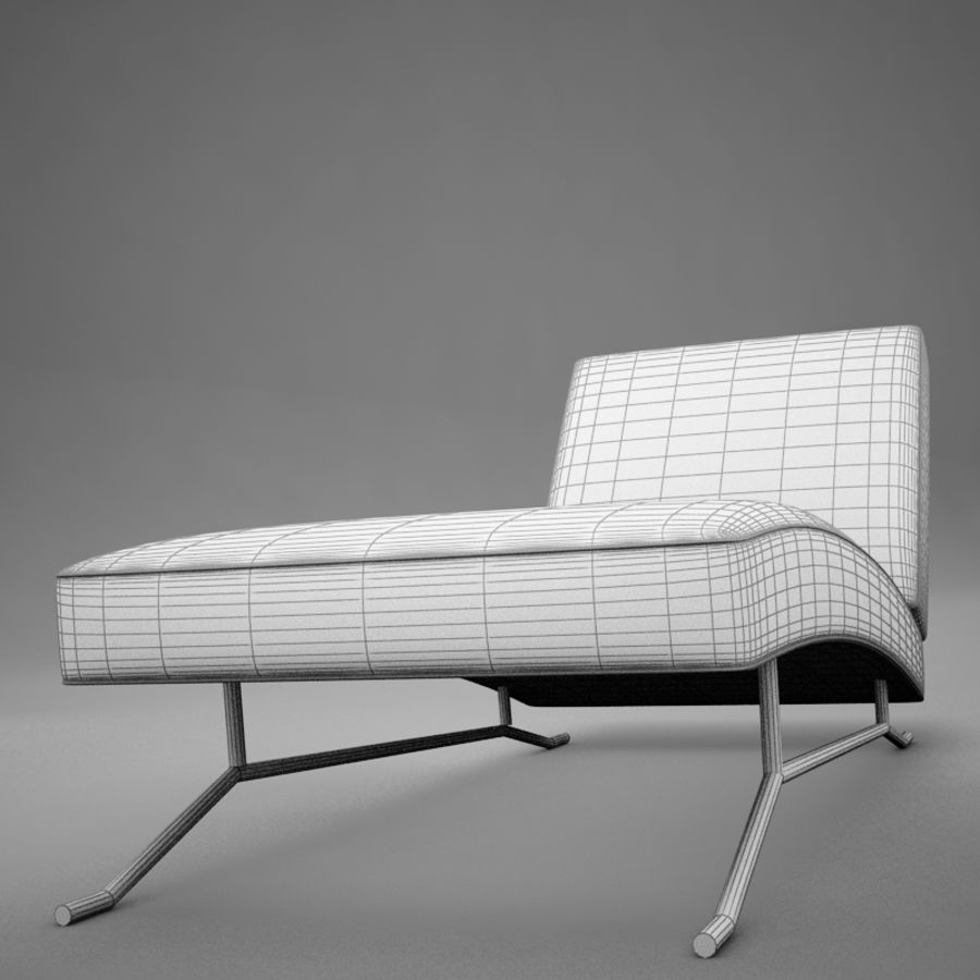 lounge chair02 royalty-free 3d model - Preview no. 16