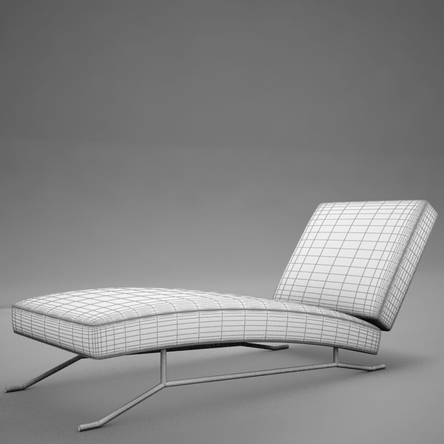 lounge chair02 royalty-free 3d model - Preview no. 11