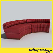 arched_sofa 3d model