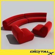 sofa bubbly 3d model