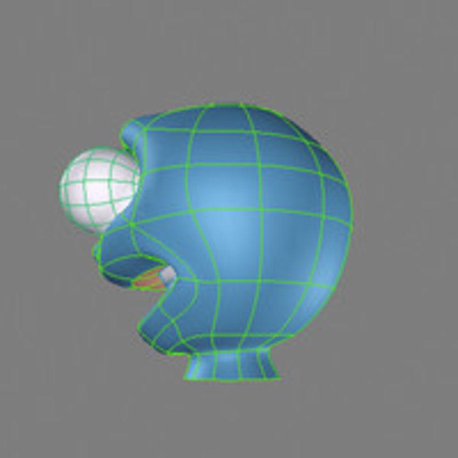 気まぐれなキャラクターの頭 royalty-free 3d model - Preview no. 9