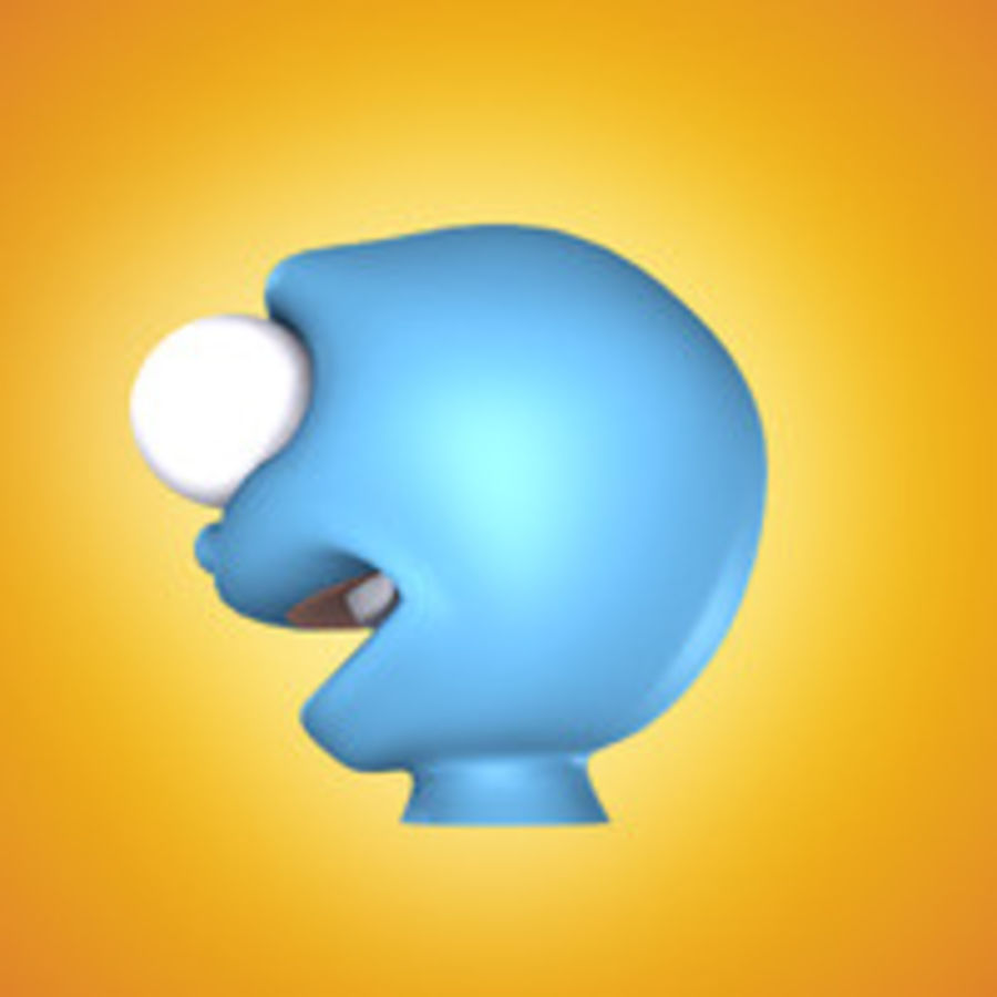 freaky karakter hoofd royalty-free 3d model - Preview no. 13