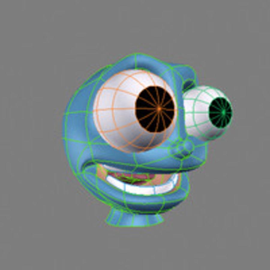 freaky karakter hoofd royalty-free 3d model - Preview no. 7