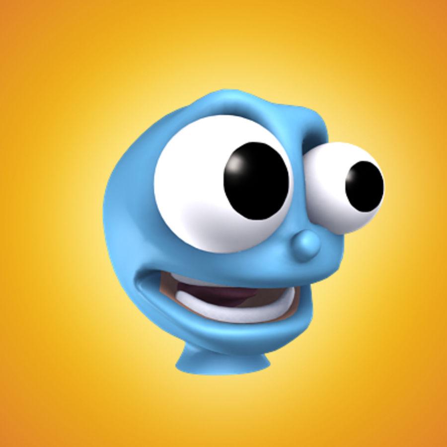freaky karakter hoofd royalty-free 3d model - Preview no. 1