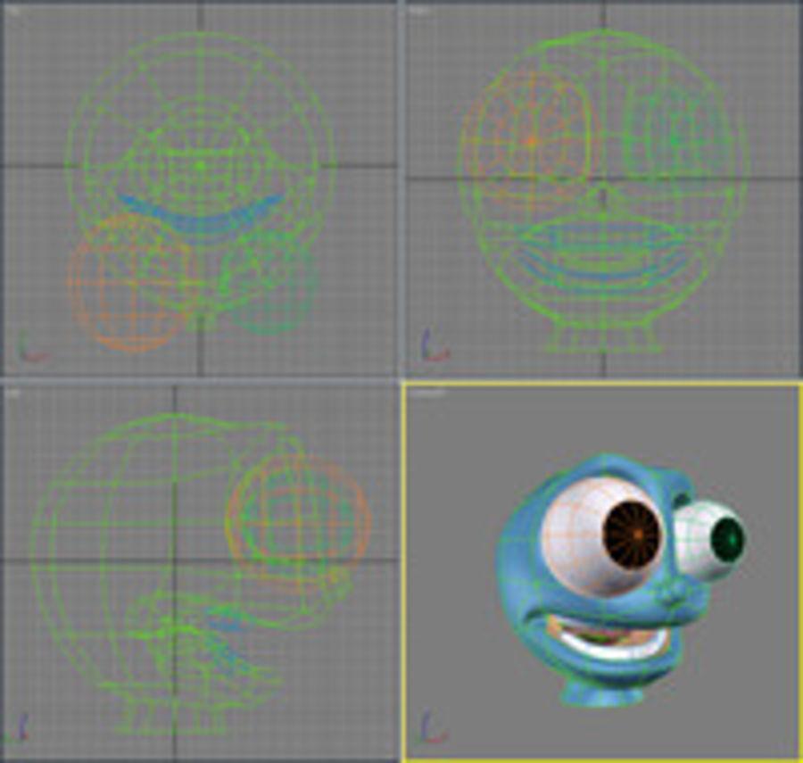 freaky karakter hoofd royalty-free 3d model - Preview no. 2
