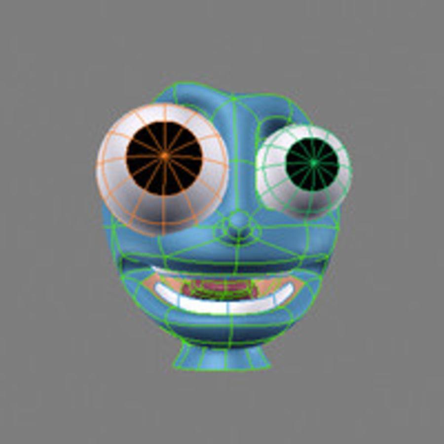 気まぐれなキャラクターの頭 royalty-free 3d model - Preview no. 10