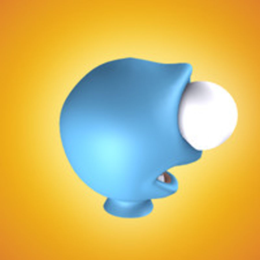 freaky karakter hoofd royalty-free 3d model - Preview no. 11