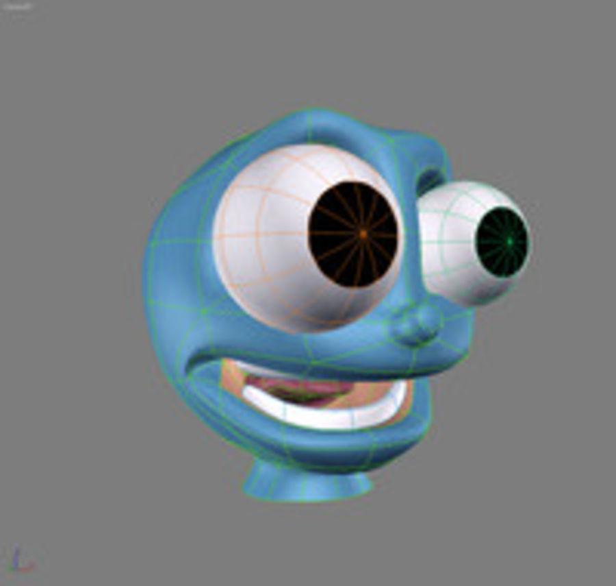 freaky karakter hoofd royalty-free 3d model - Preview no. 3