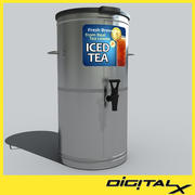 ice tea chrome 3d model