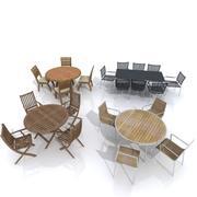 ガーデンテーブルセット 3d model