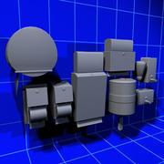 Restroom Accessories 01 3d model