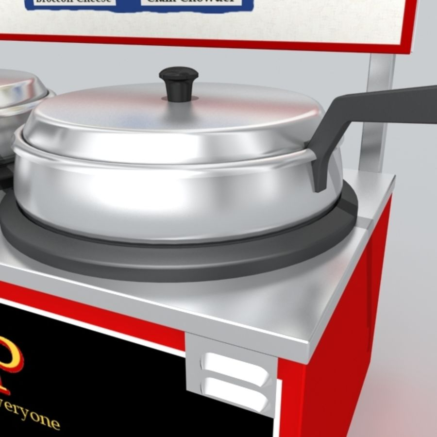 soup warmer royalty-free 3d model - Preview no. 2