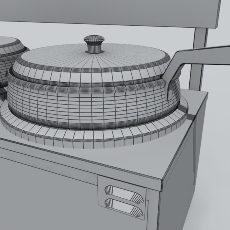 soup warmer royalty-free 3d model - Preview no. 3