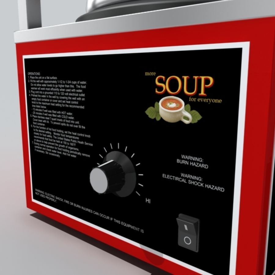 soup warmer royalty-free 3d model - Preview no. 6