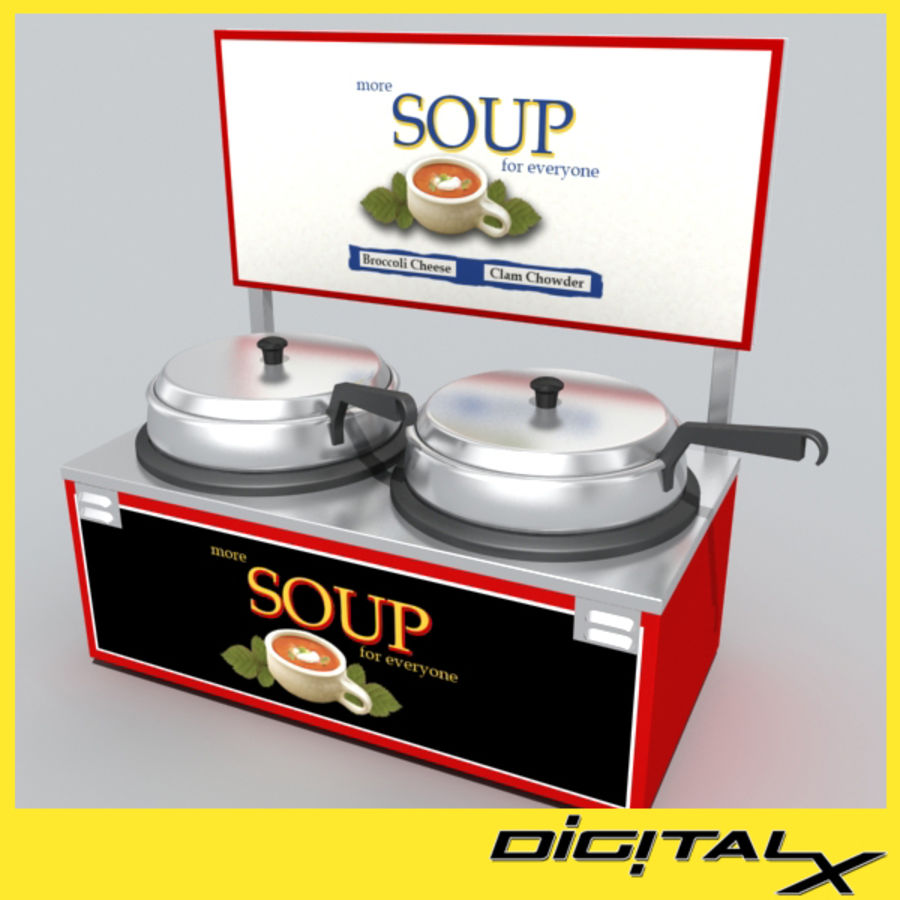 soup warmer royalty-free 3d model - Preview no. 1