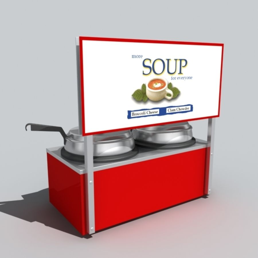 soup warmer royalty-free 3d model - Preview no. 5