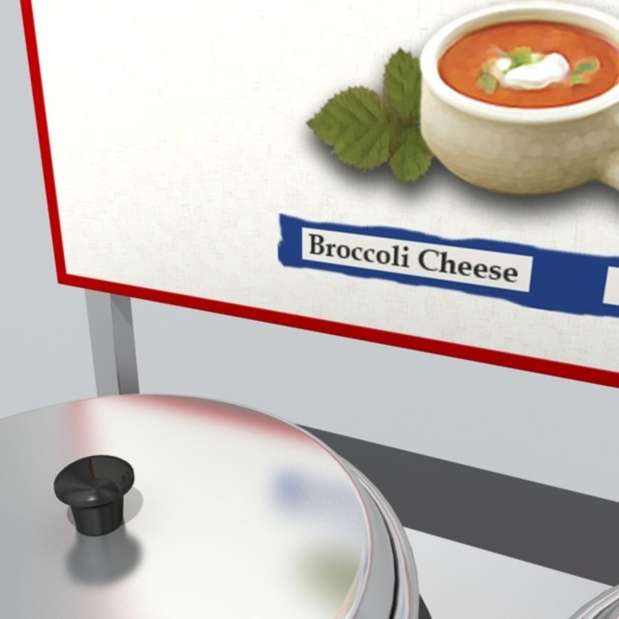 soup warmer royalty-free 3d model - Preview no. 4