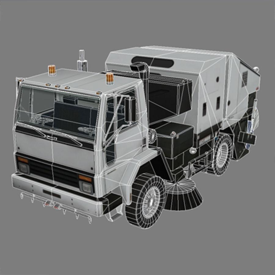 低多边形垃圾车 royalty-free 3d model - Preview no. 4