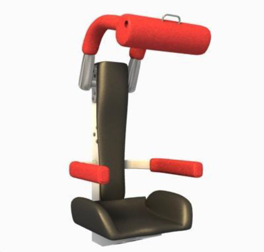 3D Roller Coaster Seat Model royalty-free 3d model - Preview no. 2