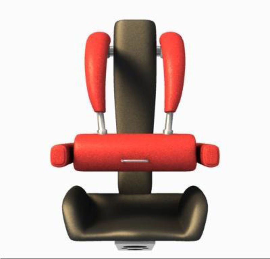 3D Roller Coaster Seat Model royalty-free 3d model - Preview no. 4