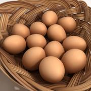 Eggs_Basket 3d model