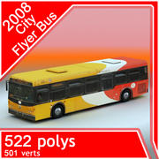 2008 City Flyer Bus 3d model