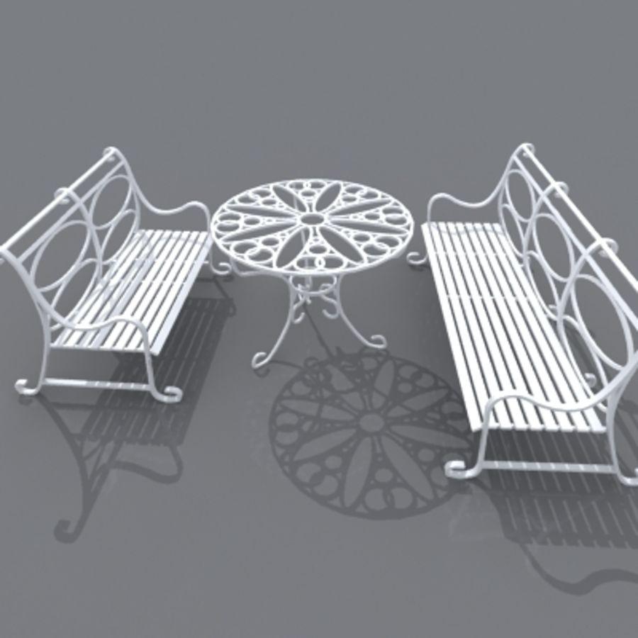 Sedie Da Giardino In Ghisa.Tavolo E Sedia Da Giardino In Ghisa Modello 3d 26 Fbx 3ds Max
