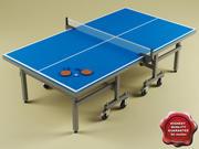 탁구대 테이블 V2 3d model