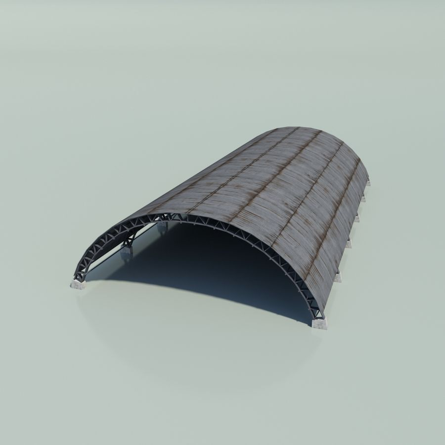 Hangar royalty-free 3d model - Preview no. 5