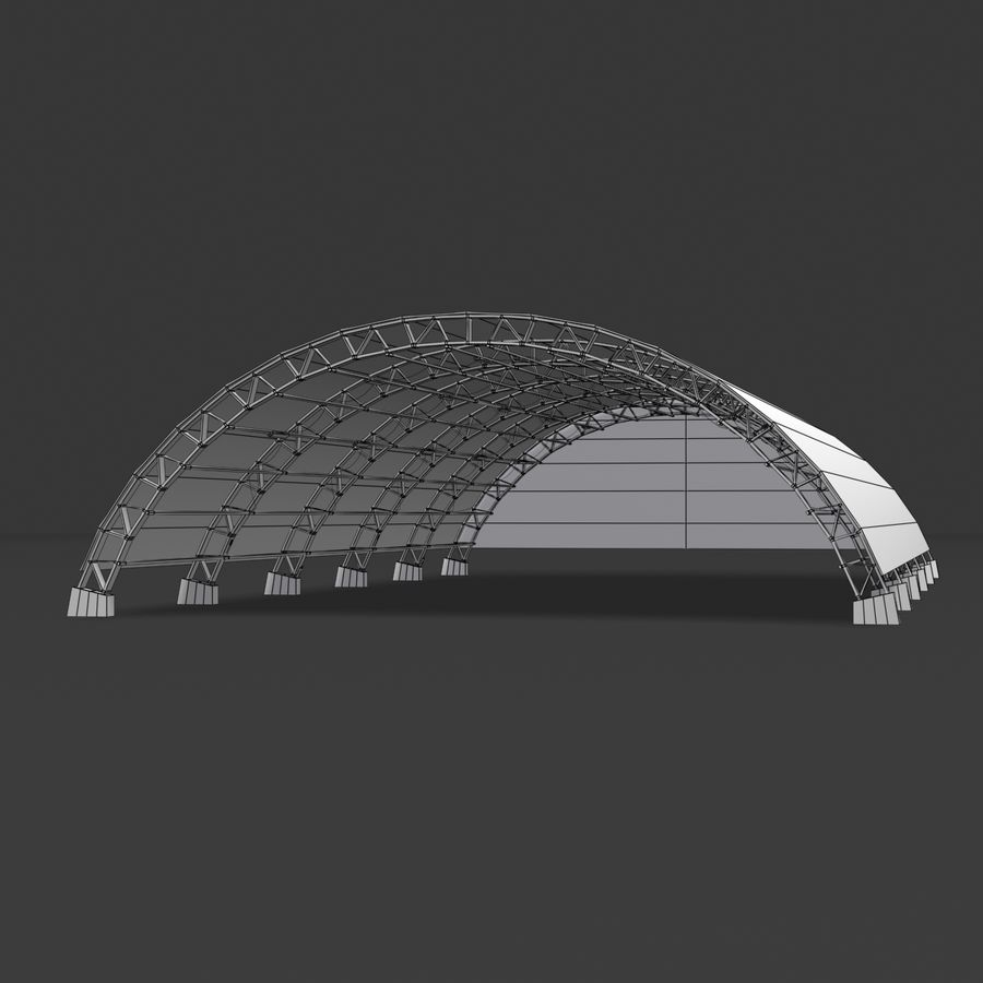 Hangar royalty-free 3d model - Preview no. 14