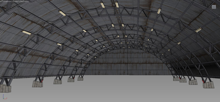Hangar royalty-free 3d model - Preview no. 21