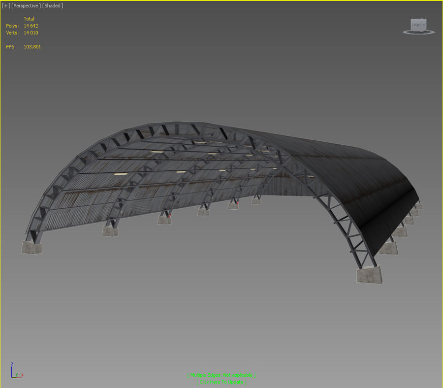 Hangar royalty-free 3d model - Preview no. 20