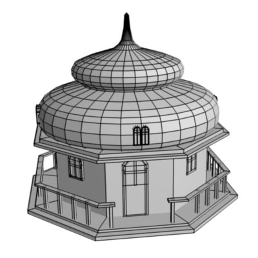 russian house9 royalty-free 3d model - Preview no. 3