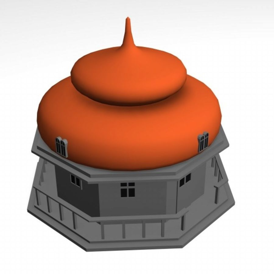 russian house9 royalty-free 3d model - Preview no. 4