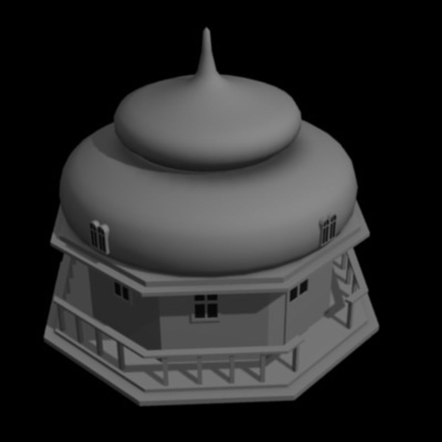 russian house9 royalty-free 3d model - Preview no. 2