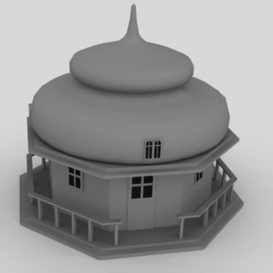 russian house9 royalty-free 3d model - Preview no. 1