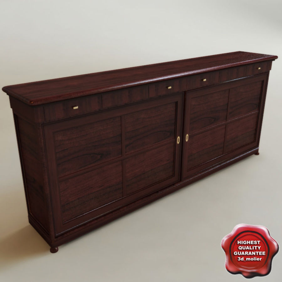Bureau klassieker royalty-free 3d model - Preview no. 1