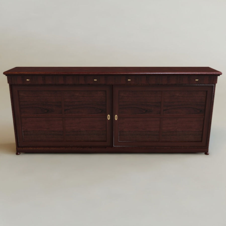 Bureau klassieker royalty-free 3d model - Preview no. 2