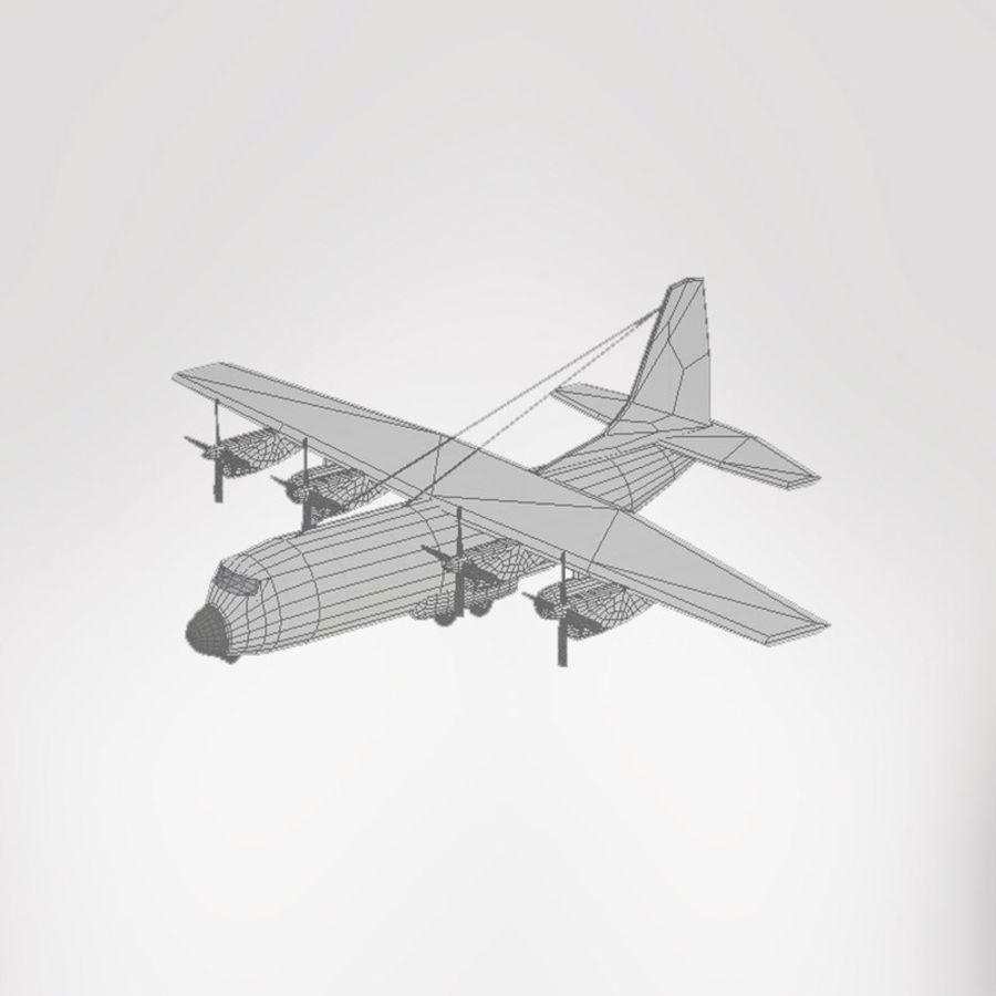 Lockheed Hercules C-130 royalty-free 3d model - Preview no. 4
