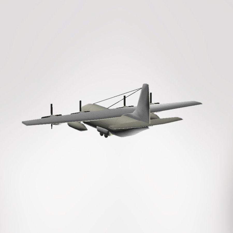 Lockheed Hercules C-130 royalty-free 3d model - Preview no. 3