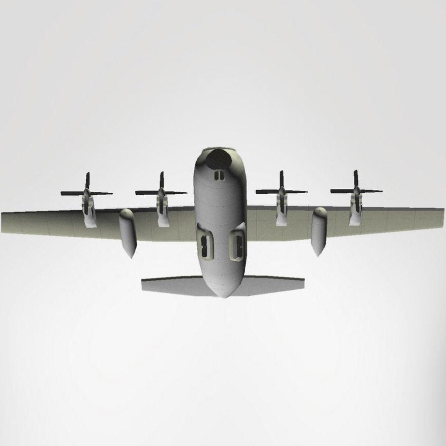 Lockheed Hercules C-130 royalty-free 3d model - Preview no. 2