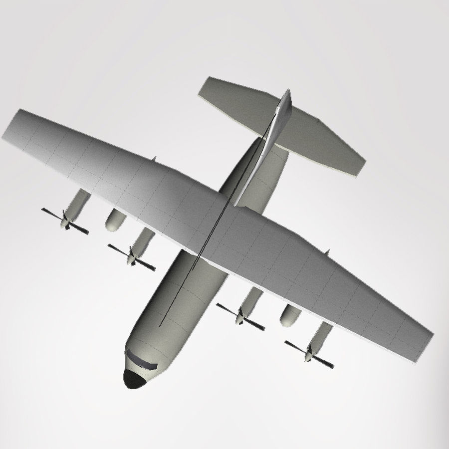 Lockheed Hercules C-130 royalty-free 3d model - Preview no. 1
