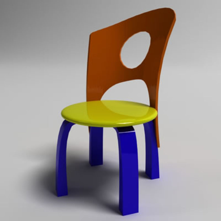 Cartoon Chair royalty-free 3d model - Preview no. 1